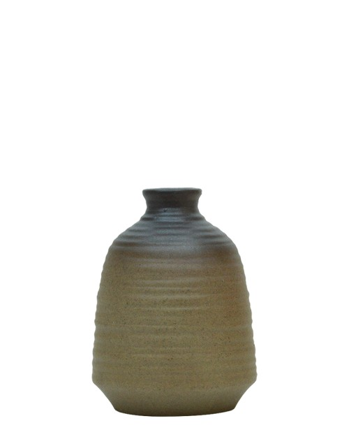 ceramic twotone wrinkle jar